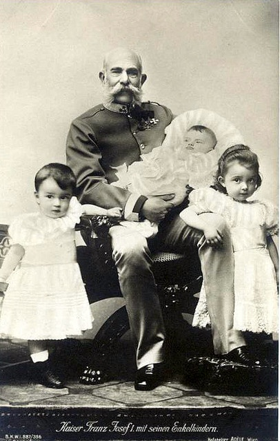 Kaiser Franz josef von Österreich mit Enkelkindern, Emperor of Austria with grandchildren by Miss Mertens, via Flickr