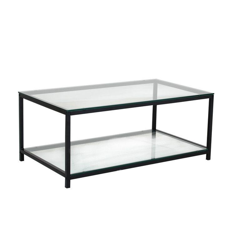 Stil soffbord - Svart / metall / glas - 1695kr - Trendrum.se