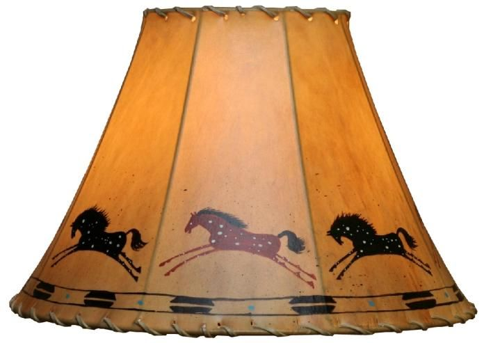 Appaloosa Horses hand Painted sheepskin Rawhide Leather L&shade various sizes made in usa foss l&shades fosskin  sc 1 st  Pinterest & 22 best Rawhide Lamp Shades images on Pinterest | Lamp shades ... azcodes.com