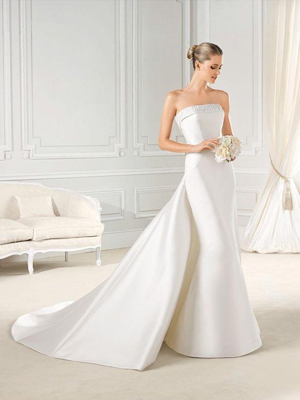 ≪ラ スポーザ≫La Sposa シルクの上品な光沢と張り感が美しいマーメイドドレス。