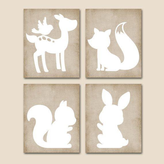 WOODLAND+Nursery+Wall+Art+CANVAS+or+Prints+Wood+by+TRMdesign