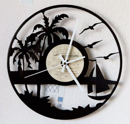 Maldives old vinyl record clock / Wall clock / Vinyl by ...