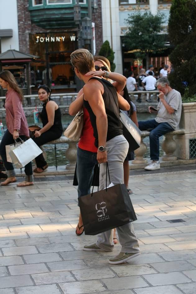 Derek Hough and Julianne Hough Hug in West Hollywood on September 4, 2012 -