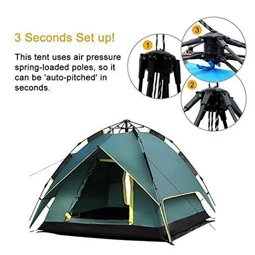Outdoor Camping Hiking Tent Quick Set Up 3 Persons w/ Carry Bag High Quality NEW #HILLPOW
