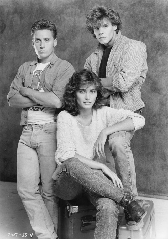 """Emilio Estevez, Kim Delaney and Craig Sheffer from """"That Was Then... This Is Now"""""""