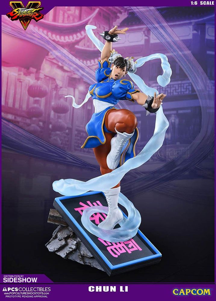 The Chun Li V Trigger Statue From Pop Culture Shock Collectibles Is Now Available At Sideshow Com For Fan Street Fighter Street Fighter Art Street Fighter Game