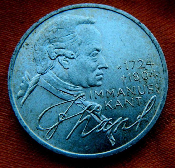 SALE 5 марок ФРГ И.Кант 1724-1804 СЕРЕБРО с Рубля