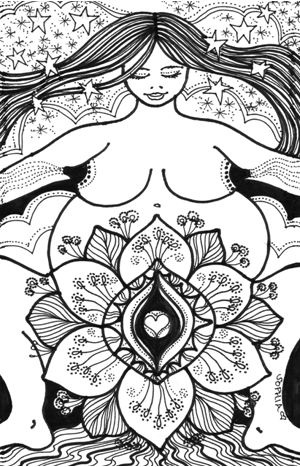 Wise Woman Herbal Ezine with Susan Weed [Art: She is enough]. Love this image! (Lotus)