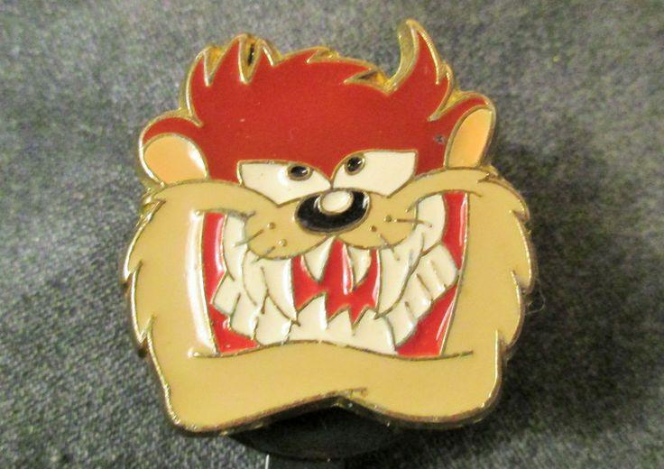 TAZ ID HOLDER Looney Tune badge reel metal head stocking stuffer Tazmanian Devil #Handmade