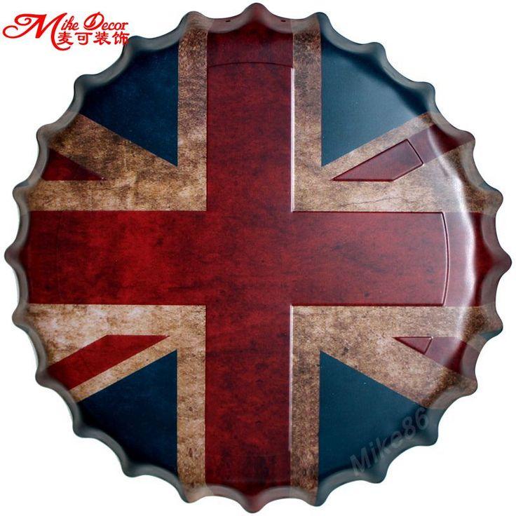[ Mike86 ] bandera británica tapa de la botella de Metal pintura Vintage recuerdo regalo del amigo Party Store House Decor 40 CM BG 60 en Pintura y Caligrafía de Casa, cocina y Jardín en AliExpress.com   Alibaba Group