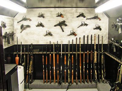 Vault room interiors gun safe pinterest safe room for Gun vault room