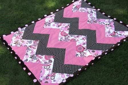 Chevron Baby Quilt - a little girly, a little modern.