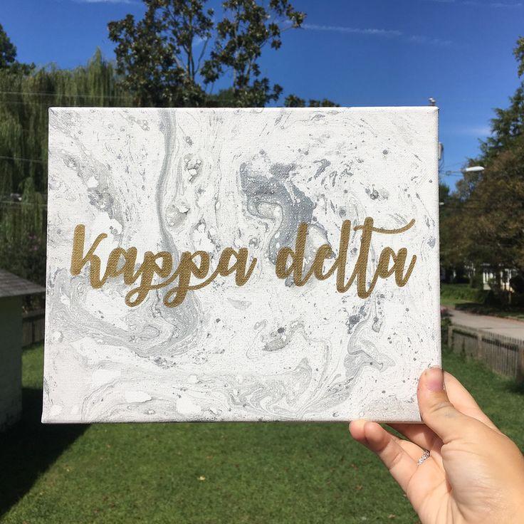 Kappa delta marbled canvas