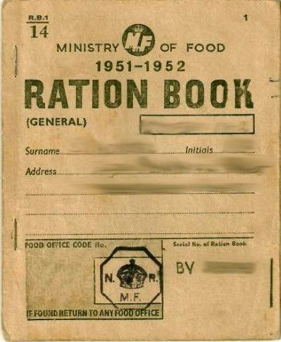 UK Ration Book. Article link to what shopping was like in the 1940s- 1960s.