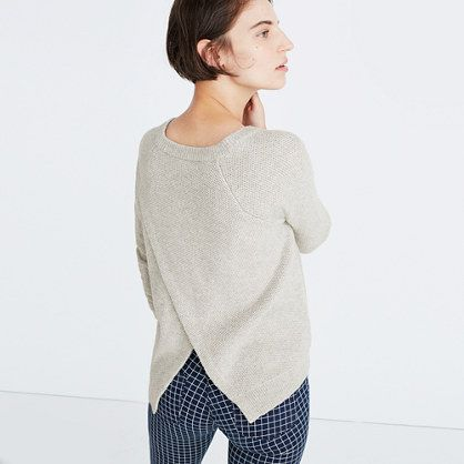 Madewell Province Cross-Back Pulloever Sweater