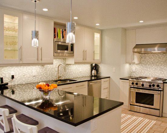 Small Kitchen Design, Pictures, Remodel, Decor and Ideas - page 19Decor, Bathroom Design, Countertops, Small Kitchens, Kitchens Ideas, Kitchens Cabinets, White Cabinets, Modern Kitchens Design, White Kitchens