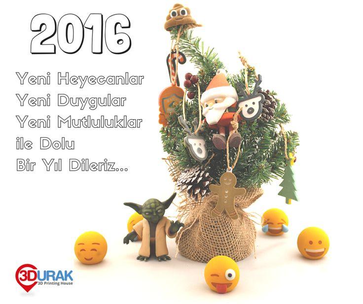 2016, Yeni Heyecanlar, Yeni Duygular, Yeni Mutluluklar ile Dolu Bir Yıl Dileriz. I 3D Durak