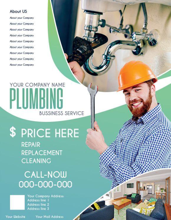 plumbing business service plumbing flyers pinterest plumbing
