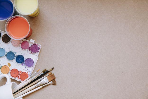Pinceaux Et Palette De Couleurs En 2019 Pinceau Palette Et
