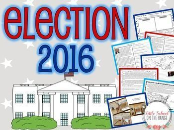 Election 2016 BUNDLE: This BUNDLE contains both the complete no-prep unit and the presentation! The unit contains all that you need to teach your students about the 2016 election! It covers both of the current presidential nominees. It also covers the pre