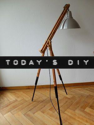 enidan's art: DIY ¦ es werde licht - die enstehung einer stehlampe