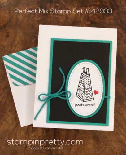 Perfect Mix stamp set & Stitched Shapes Framelits Dies thank you card idea created by Mary Fish, Stampin' Up! Demonstrator. 1000+ StampinUp & SUO card ideas. Read more https://stampinpretty.com/2017/03/a-perfect-mix-of-clean-simple.html