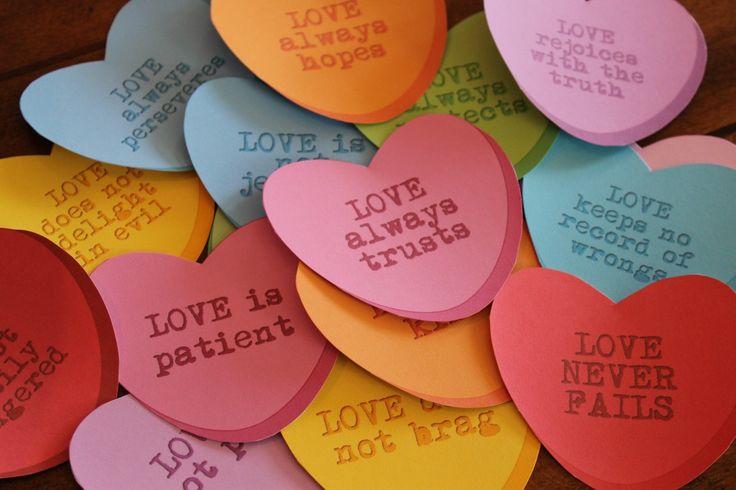 activities that teach values, love