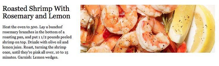 ... Rosemary & Lemon   Food   Pinterest   Roasted shrimp, Lemon and Shrimp