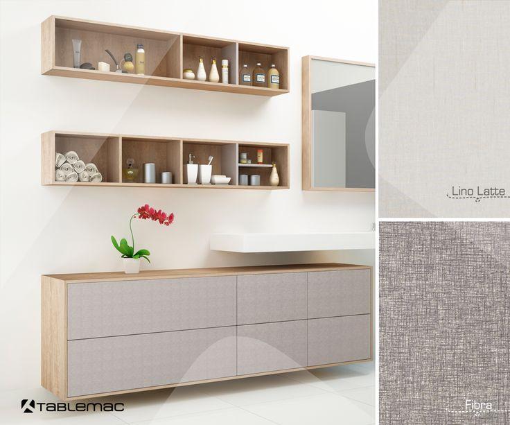 #Combina nuestros diseños Lino Latte y Fibra en nuestro simulador y crea tus propios espacios. http://www.tablemac.com/simulador/