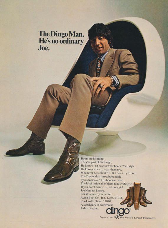 1971 Dingo Boots Advertisement 70s Fashion Vintage Print Ad