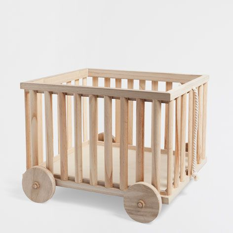 Chariot bois meubles et clairage d coration zara home france coffres jouets malle et - Berceau zara home ...