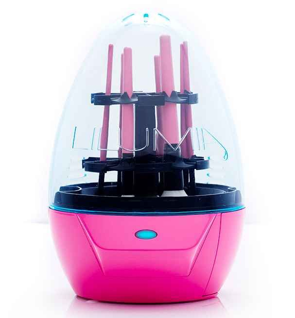 A machine that washes your makeup brushes for you.