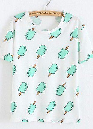 Kup mój przedmiot na #vintedpl http://www.vinted.pl/damska-odziez/koszulki-z-krotkim-rekawem-t-shirty/16827185-bluzka-w-lody