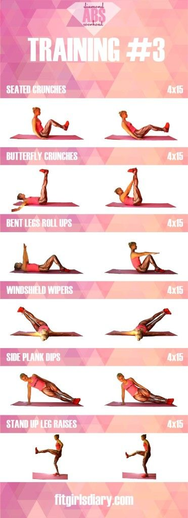 training #3 Diamond Abs Workout - The Best Ab Exercises for Women