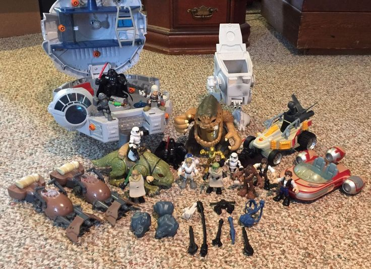 STAR WARS GALACTIC HEROES LOT  VEHICLES FIGURES MONSTERS MORE! FALCON RANCOR