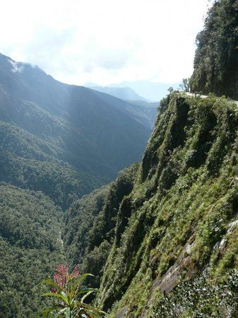 Yungas Road, La Paz: mountain biking downhill for 60 km.