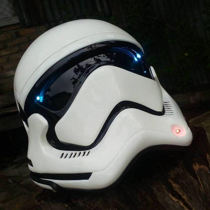 STAR WARS STROMTROOPER MOTORCYCLE HELMET STYLE ( DOT APPROVED ) #Unbranded #STARWARS
