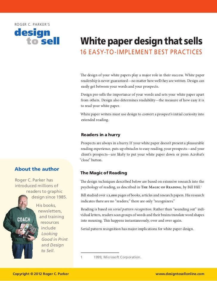 Sample White Paper Template  MytreatCo