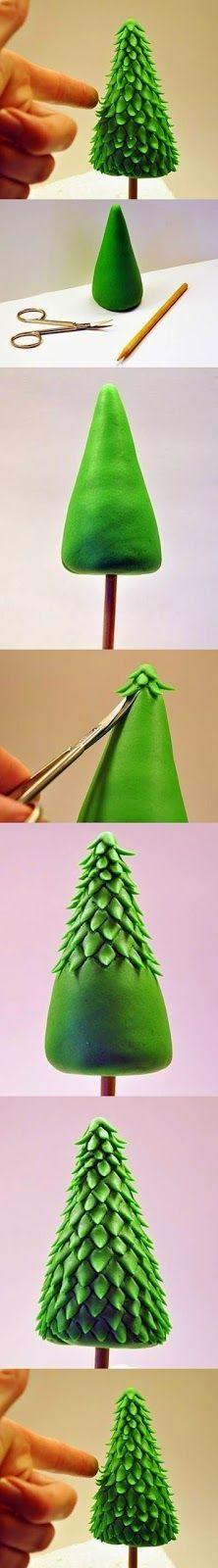 Pessoal, separamos esses tutoriais rápidos pra vocês utilizarem em bolos para o Natal.     Tutorial 01 - Árvore feita com pasta americana ...