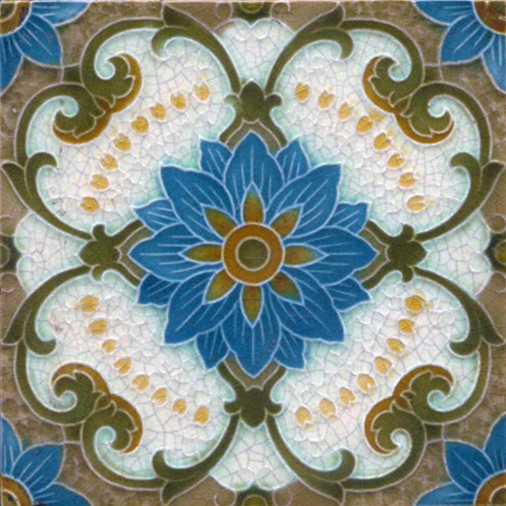 Decorative Ceramic tile 4.25 X 4.25 inches, Illustration Vintage art nouveau #31