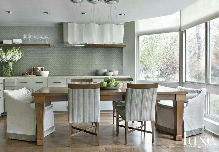 Gray And Walnut And Splash Kitchen Tiles