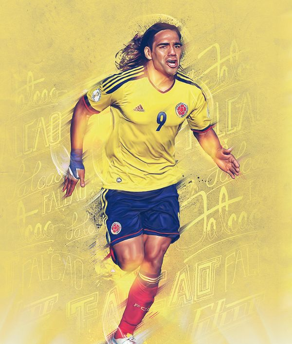 CROMOS MAGAZINE - Radamel Falcao by Caroline Blanchet, via Behance