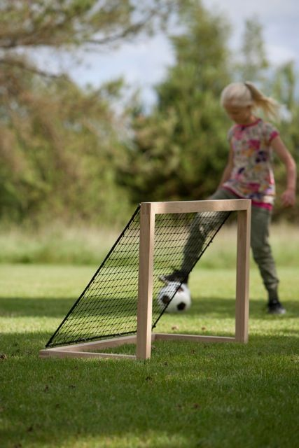 Teak Soccer Goal - Outdoor Collection by Design with Vision www.naturesvision.com.au