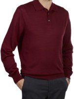 Paul Fredrick Men's Merino Wool Blend Polo Collar Sweater Price:	$69.50 - $74.50 Features 50% wool/50% acrylic 50% Wool, 50% Acrylic Hand Wash Cold Separately. Use Non-chlorine Bleach When Needed. Lay Flat To Dry. Or Dry Clean. Item #: KMH201L Polo, Long Sleeve Pullover Fully Fashioned For A Better Fit