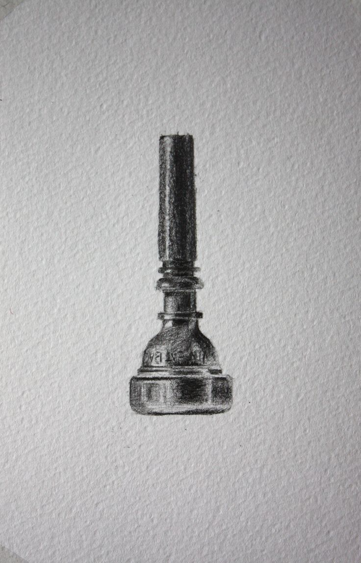 Father's Day Card - Drawing of a Trumpet Mouthpiece