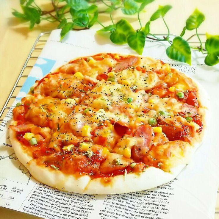 発酵なし!焼くまで5分♫即席なのに最高に美味しい♡ちぎりピザ