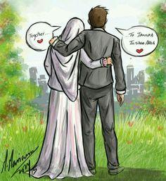 Ya ALLAH, join us with our spouses in Jannatul Firdaus. Amin ya Rabbi