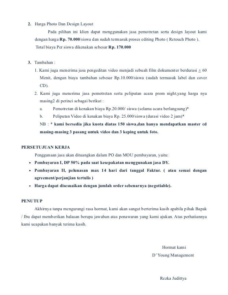 Proposal Penawaran Proposal Online Business Inbox Screenshot