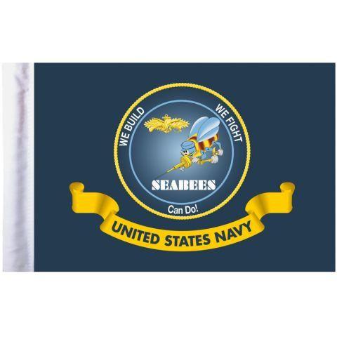 U.S. Navy Seabees Pro Pad Motorcycle Flag