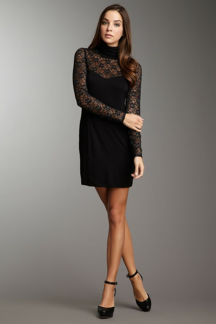Long Sleeve Lace Turtleneck Dress Clothes Prom Dresses